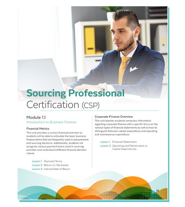 Sourcing Certification